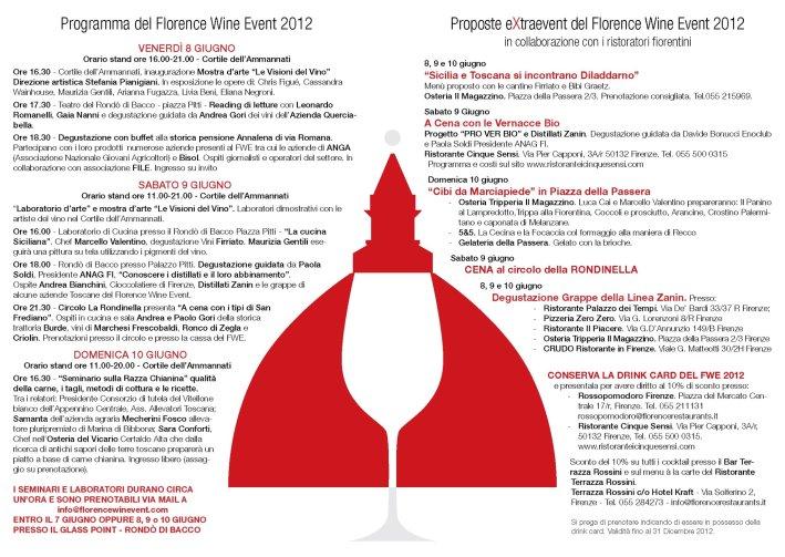 Florence Wine Event 2012 - Programma