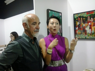 Corrado De Meo and Anna Cheng at Joya